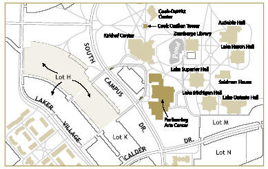 Gvsu Pew Campus Map Find Us   Shakespeare Festival   Grand Valley State University